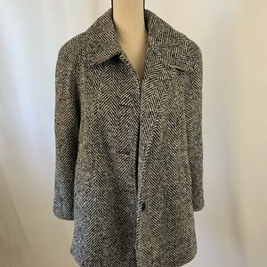 VTG Mark Reed Wool Houndstooth Jacket Peacoat L
